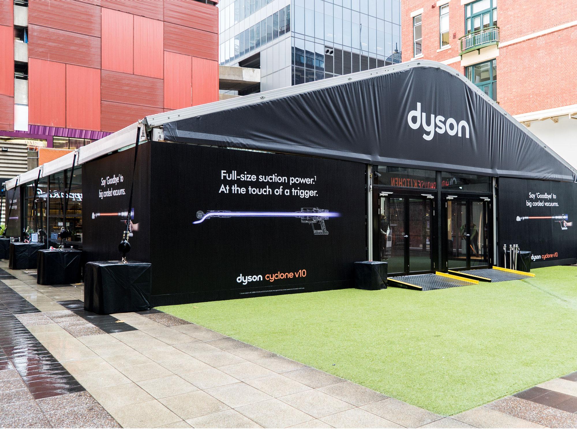 Dyson Retail activation pop up